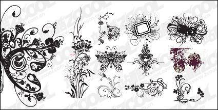 free vector Practical fashion pattern vector material