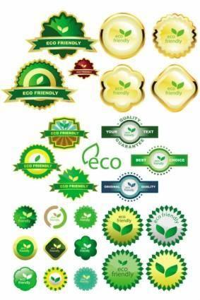free vector Green ecolabel vector