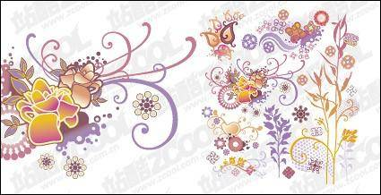 free vector Lovely style pattern element vector material