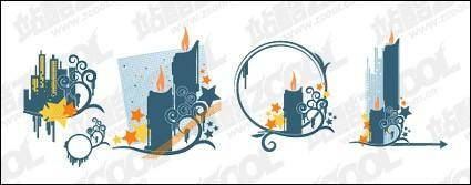 Candles high pattern element vector material