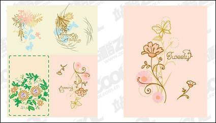 free vector Simple hand-painted patterns vector material
