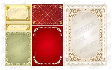 free vector Practical lace border vector material-1