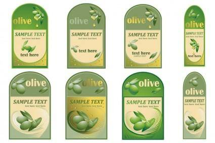 free vector Vector bottle of olive oil paste