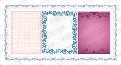 free vector Practical lace border vector material-3