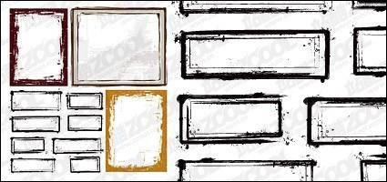 free vector Ink style border vector material