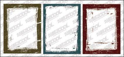 Ink style border vector material-2