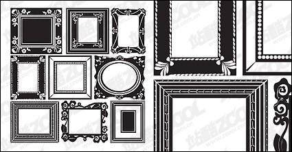 free vector Accommodates frame lace vector material