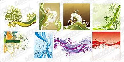 free vector Fluctuations in line with the pattern element vector material