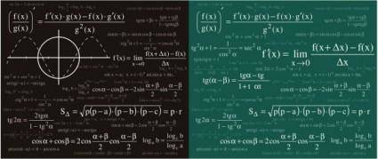 Mathematical amp physical formulas vector