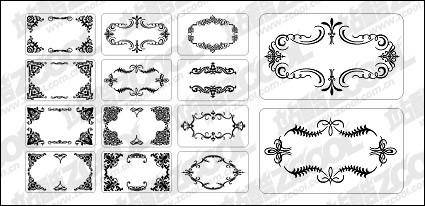 12 cards with exquisite lace elements of material