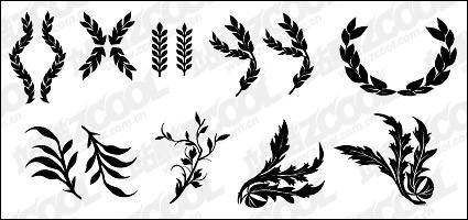 free vector Wheat, and other common elements of vector material