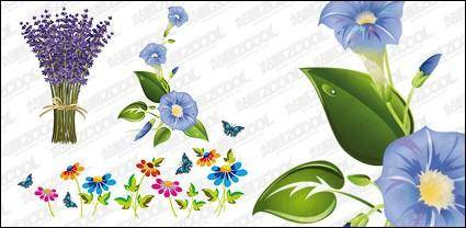 free vector Exquisite flowers vector material