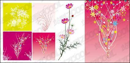 free vector Colourful flower
