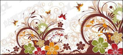 Beautiful butterfly pattern and vector material 21671