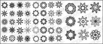 free vector Several circular pattern vector material