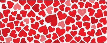 free vector Heart-shaped background material vector