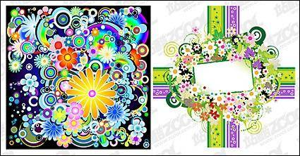 free vector Colorful flowers vector