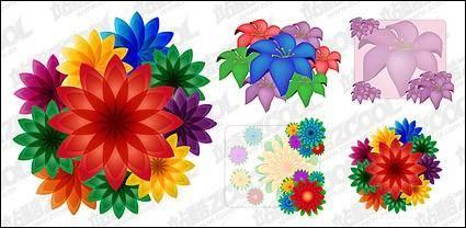free vector Beautiful flowers vector material