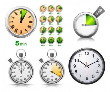 free vector Stopwatch clock vector