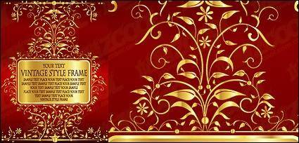 free vector Gorgeous gold lace pattern