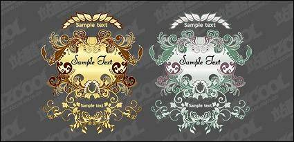 European-style pattern vector material