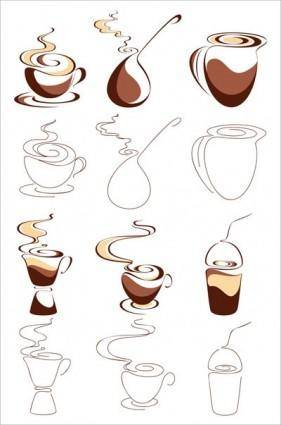 free vector Abstract vector graphic 1 coffee