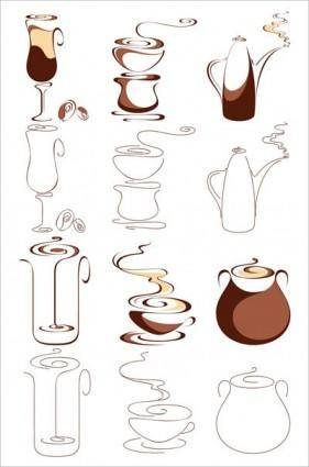 free vector Abstract graphics vector 2 coffee
