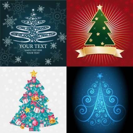 free vector Abstract christmas tree vector