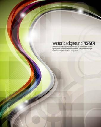 free vector Dynamic colorful abstract elements 01 vector