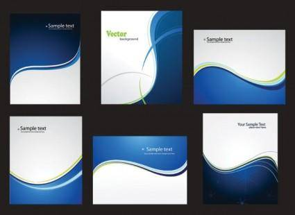 free vector Dynamic abstract blue card 01 vector