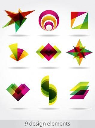 free vector Abstract symbol graphics 04 vector