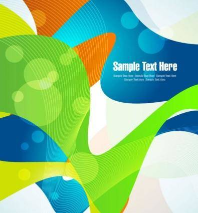 free vector Dynamic set of abstract elements 04 vector