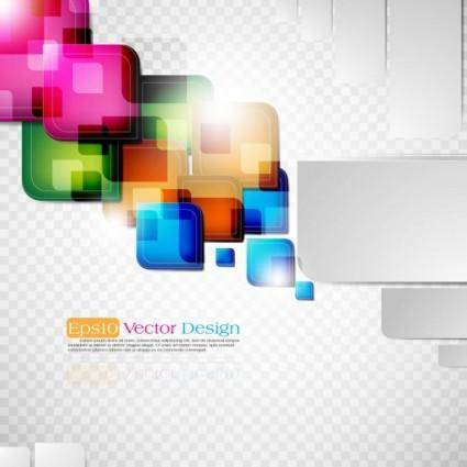 free vector Dynamic colorful abstract elements 03 vector