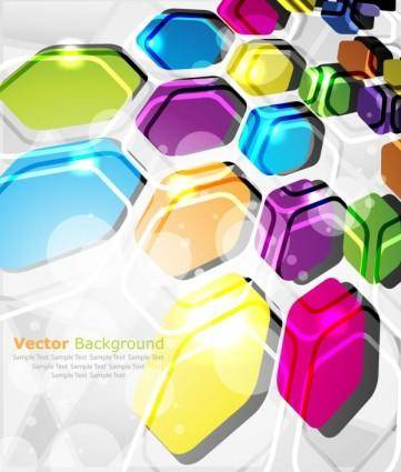 free vector Colorful abstract elements 06 vector