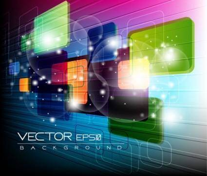 free vector Colorful abstract elements 07 vector