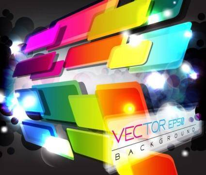 free vector Colorful abstract elements 08 vector