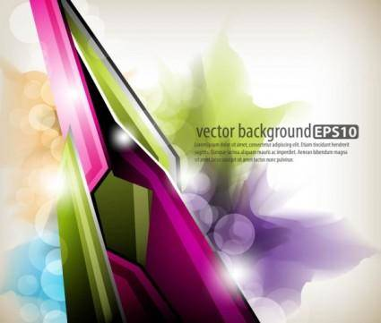 free vector Dynamic colorful abstract elements 02 vector