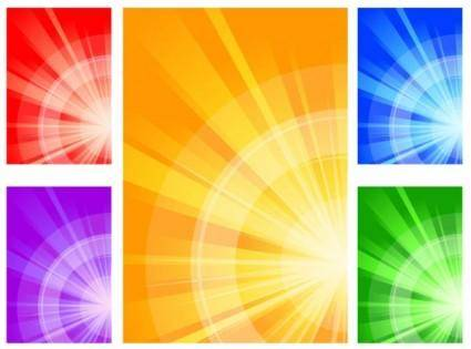 Abstract color patterns 02 vector