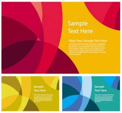 free vector Abstract color patterns 03 vector