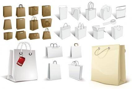 Bag a variety of blank vector