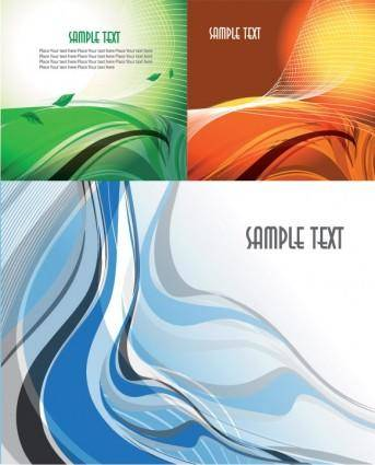 3 dynamic lines of the abstract vector background