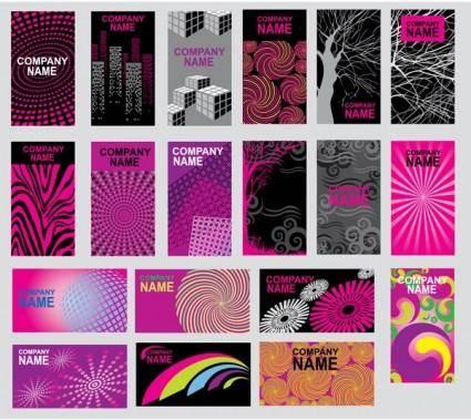 free vector Purple abstract design vector clip card