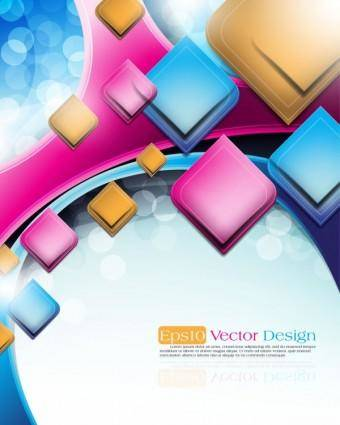 Abstract vector background object 03 vector