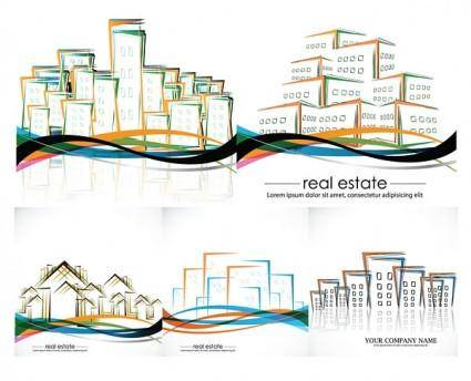 free vector Vector abstract house