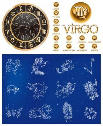 free vector 3 sets of 12 constellation vector