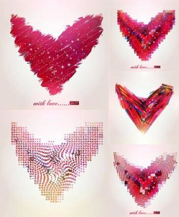 free vector Abstract heart-shaped pattern vector