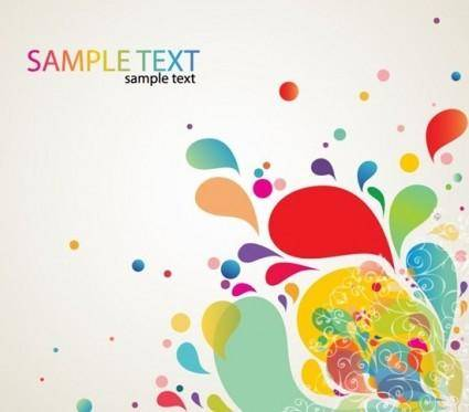 free vector Colorful Abstract Splash Design Vector