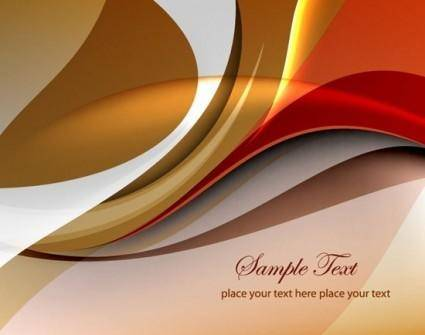 Abstract Curves Vector Background
