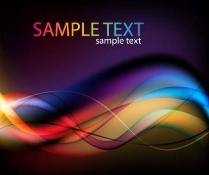 Abstract Colorful Light Waves Vector Background