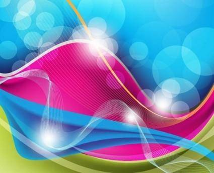 Free Abstract Waves Vector Background